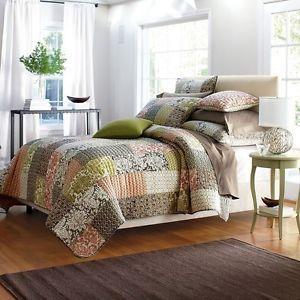 Quilt Comforter Patchwork 100 Cotton Eliza Multi Color The Company