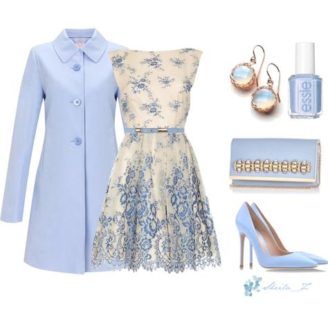 Blue Polyvore outfits pictures photos