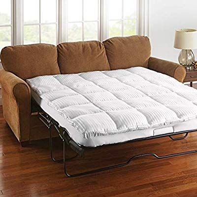 Amazon Com Brylanehome Sofa Bed Mattress Topper Queen White Kitchen Dining In 2020 Sofa Bed Mattress Sofa Bed Queen Mattress Sofa