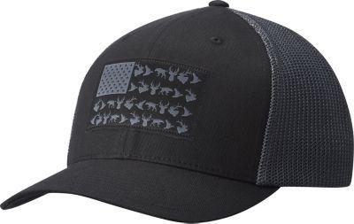 98945baabb2eb7 Columbia PFG Mesh Fish Flag Ball Cap - Black/Graphite - L/XL in 2019 ...