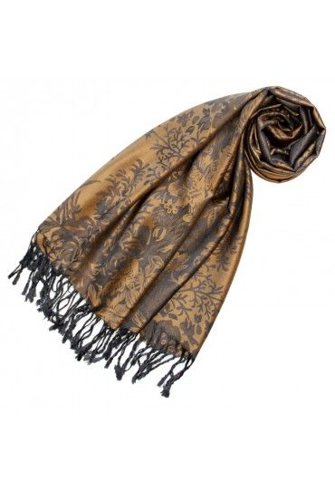 The Official Online Store Modal Scarf In Light Brown Gray Floral Lorenzo Cana Grey Floral Brown And Grey Floral