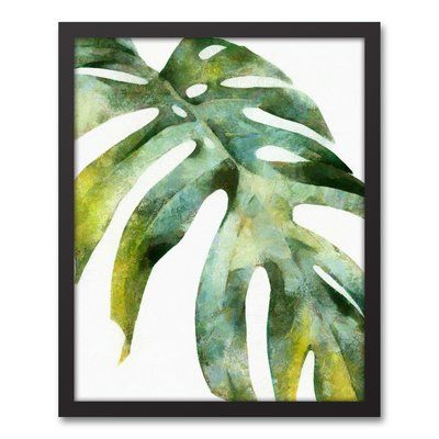 Green Palm Leaf Painting Print On Canvas In 2020 Canvas Frame