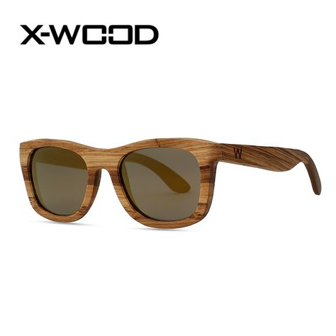 Mens Women Zebra Wood Polarized  Sunglasses Wood Frame Retro Fashion Glasses