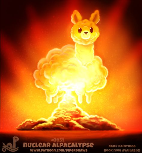 Daily Paint Nuclear Alpacalypse by Cryptid-Creations