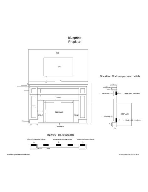 Build Instructions For A Shaker Style Fireplace Cabinets And