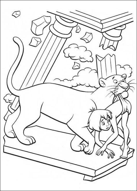 das dschungelbuch ausmalbilder 6   buch zeichnung, disney