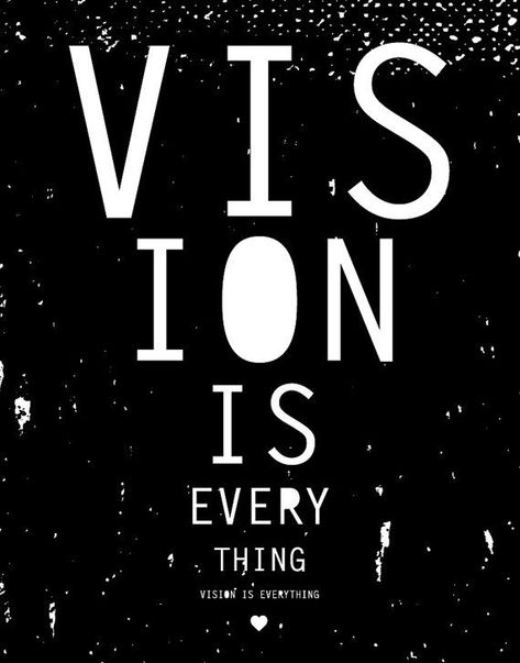 11 x 14 screen print Vision is Everything by VisionCity on Etsy, $20.00