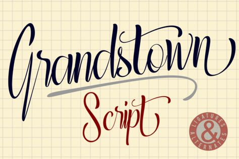 Grandstown Script (Font) by estede75 · Creative Fabrica