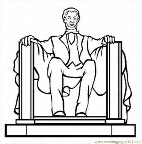 lincoln memorial coloring page | Coloring Pages