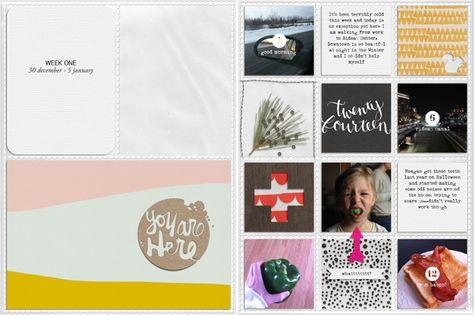 Project Life 2014 | Week One by Chantal Philippe (aka ChantalK)
