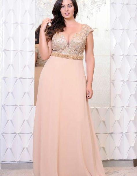 Cliente Com Imagens Vestido Festa Plus Size Vestido Madrinha