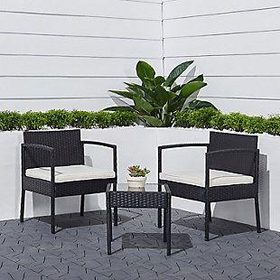 Brooks 3 Piece Indoor Outdoor Bistro Set Ashley Furniture Homestore In 2021 Conversation Set Patio Outdoor Wicker Patio Furniture Deals