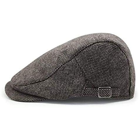 scarpe eleganti migliore nessuna tassa di vendita MAZI Cappello da Uomo con Mensola Piatta in Tweed a Quadretti4 ...