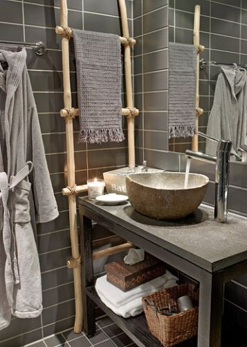 A zen touch to your bathroom