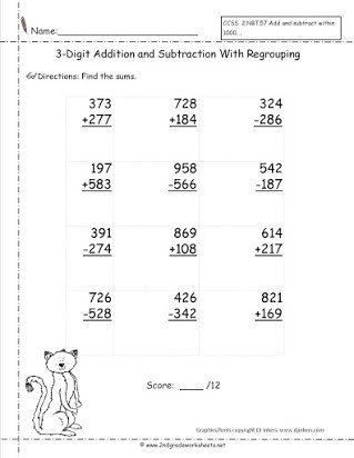 Pin Di Printable Math Worksheet Template