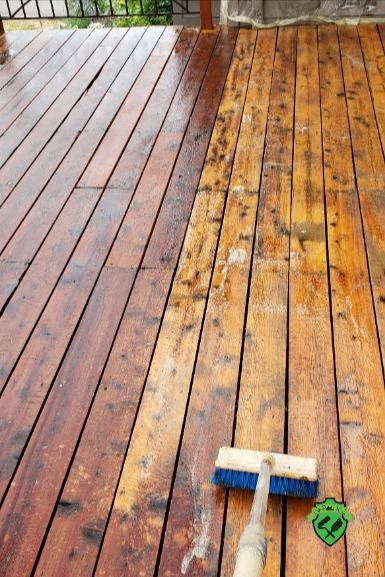 The Cool Way To Strip Revive And Stain A Deck The Process Works