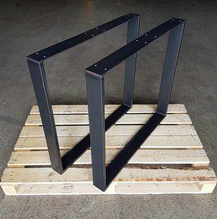 Tischkufen Metall Industrie Design 73 80 Cm Stahl 80 20 Mm 1 Paar