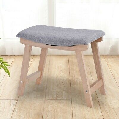 Gray Dressing Room Vanity Stool Bed Padded Bench Modern Concave Seat Furniture Vanity Stool Dressing Stool Padded Bench