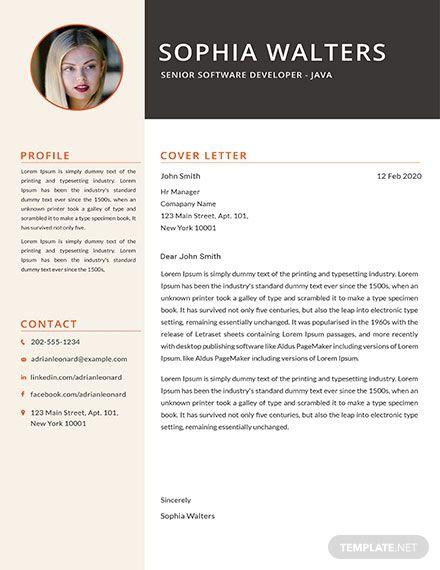 Free Senior Java Developer Resume Template Resume Template Resume Design Template Resume Template Word