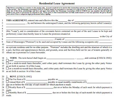 Basic Rental Agreement Fillable Basic Rental Agreement Word