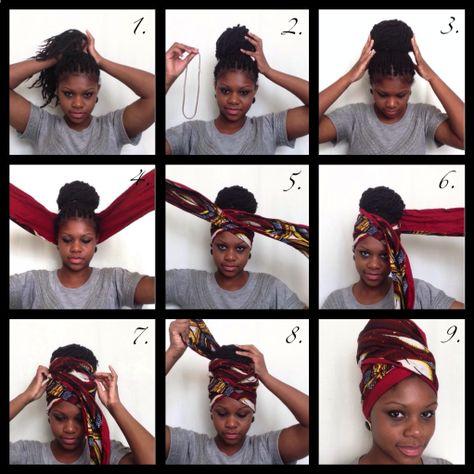 Tutos, différentes façons de nouer un foulard sur ses cheveux.