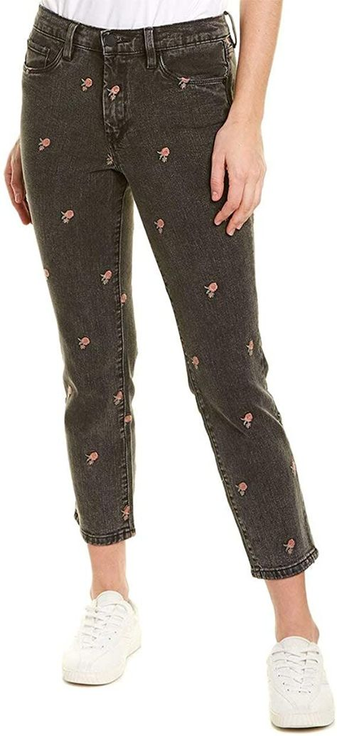 Rose embroidered jeans (sponsored)