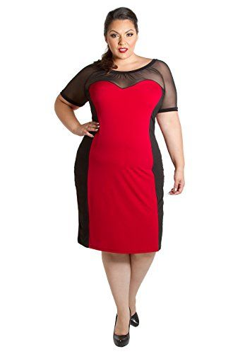 Sealed With A Kiss Designs Plus Size Dress Carmen Dress 1x Red