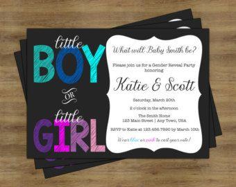 List Of Pinterest Gender Reveal Invitations Free Boy Or Girl Images