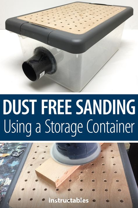 Woodworking Holz This simple project for dust-free sanding using a storage container can be finished in a single weekend. Holz This simple project for dust-free sanding using a storage container can be finished in a single weekend. Easy Woodworking Projects, Woodworking Furniture, Diy Wood Projects, Fine Woodworking, Easy Projects, Diy Furniture, Woodworking Workshop, Woodworking Techniques, Woodworking Classes