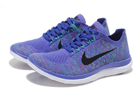 official photos f1cca f1904 Nike Womens New Free 4.0 V2 Flyknit 2018 Club Purple Court Purple Black