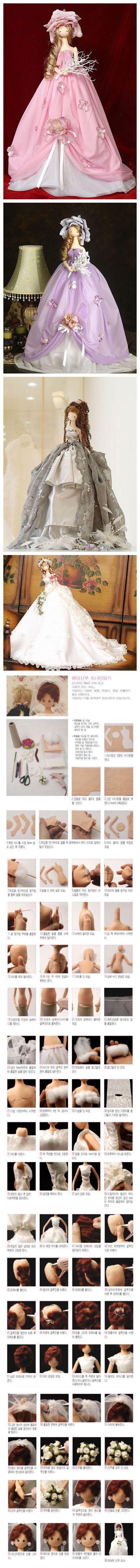 Hermosa muñeca encantadora Corea (con el diagrama del proceso de producción)