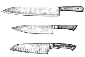 Sarah Rutherford Illustrator Artist New York Knife Drawing Kitchen Knives Knife