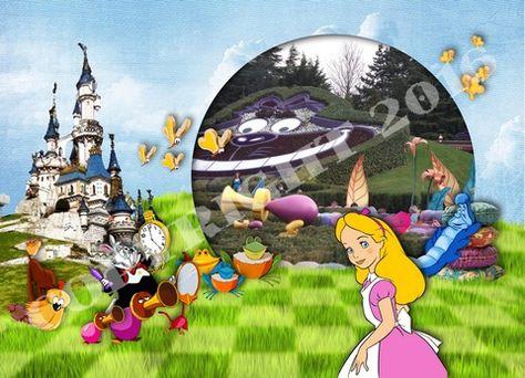 Carte Disneyland Paris Le Labyrinthe D Alice Disney Et