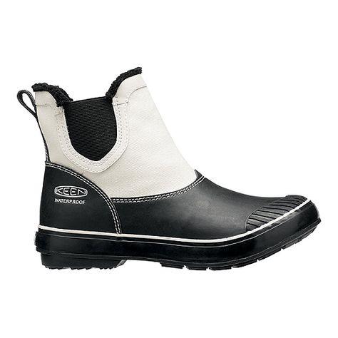 9296334da9ba Keen Women s Elsa Chelsea Waterproof Winter Boots - White Black