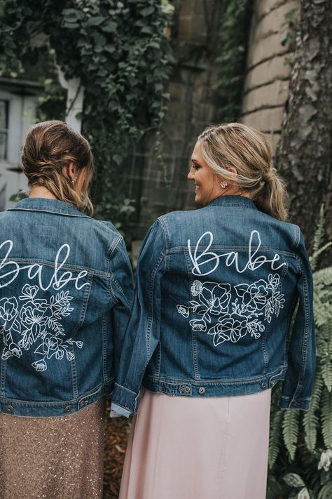 KRorerDecor Custom Bridal Jackets | Add unique style to your wedding day with a hand painted leather or denim jacket.  Each design is unique to each bride and the vibe she wants to create for her big day!  Find out how to get yours at www.krorerdecor.com