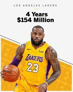 Breaking News Lebron James Agrees A 154m 4 Year Contract With Lakers Lebron James Lakers Los Angeles Lakers Lakers
