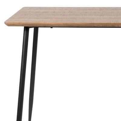 Table De Bar Pas Cher Table Haute En Bois Meuble Industriel En 2020 Table Haute Bois Metal Table Salle A Manger