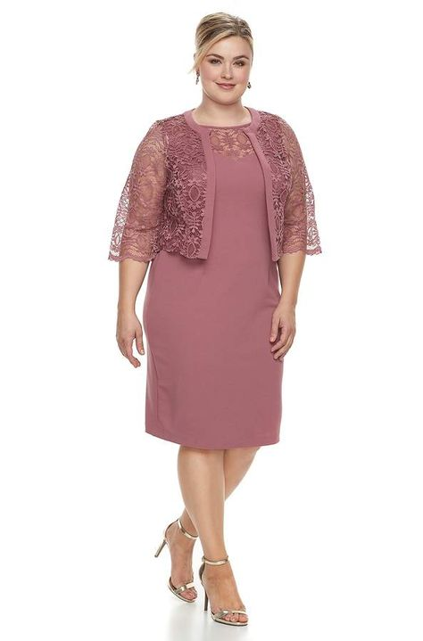 659d5c573f91 Plus Size Maya Brooke Lace Dress & Jacket Set | Mum | Pinterest