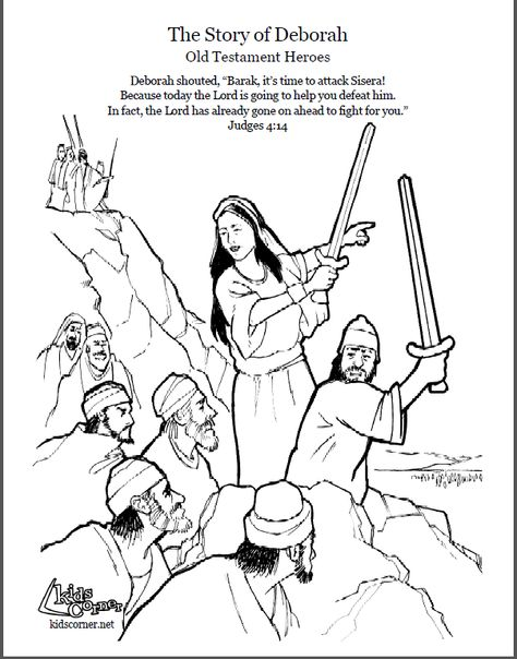 The Story Of Deborah Bible Stories For Kids Bible Coloring