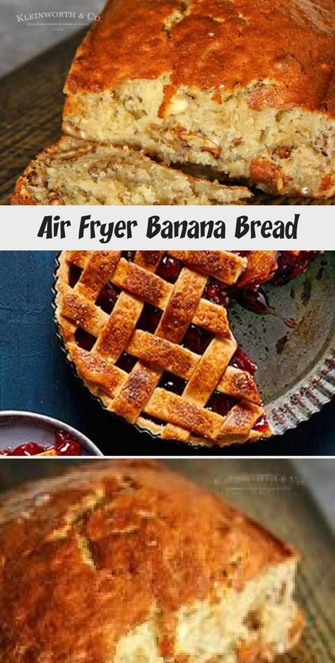 Air Fryer Banana Bread is easy to make & takes only 40 minutes. Loaded with nuts & delicious banana flavor, it's a classic breakfast recipe, simplified. #banana #airfryer #bananabread #breakfast #baking #walnuts #AirFryingRecipesSnacks #AirFryingRecipesVideos #AirFryingRecipesPotatoes #AirFryingRecipesFood #AirFryingRecipesMeals