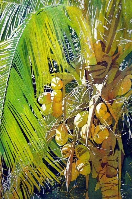 Super Coconut Tree Sketch Watercolor Painting Ideas Painting Tree