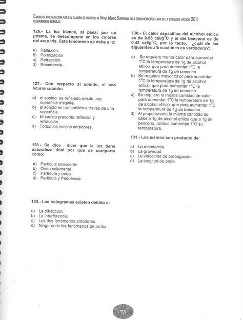 Fisica Ejercicios Preparacion Examen Ceneval Ejercicios