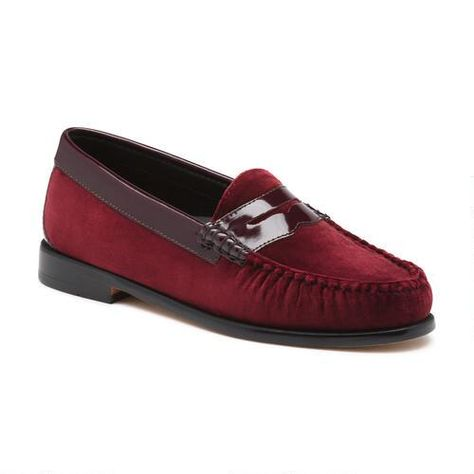Whitney Velvet weejuns wine $110 | Penny loafers, Loafers ...