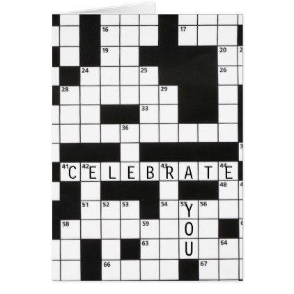 Birthday Crossword Puzzle Card Zazzle Com Crossword Gift Crossword Puzzle Crossword