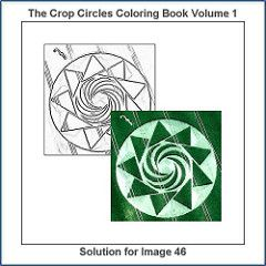 Solution For The Drawing Number 46 Of 100 From The The Crop Circles Coloring Book Volume 1 In 2020 Coloring Books Circle Drawing Coloring Book Therapy