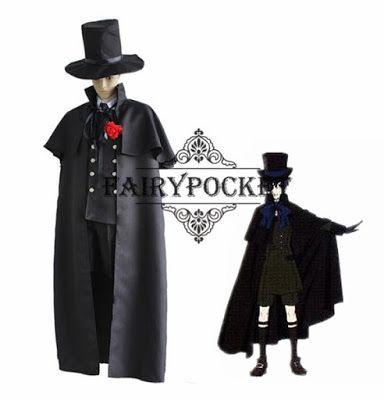 Black Butler Ciel Phantomhive Funeral dress Cosplay Costume