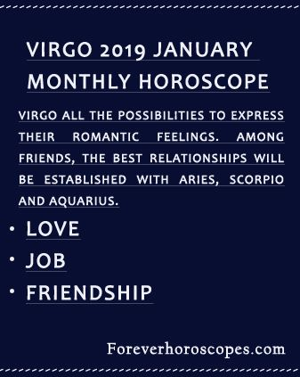 january horoscopes for virgo
