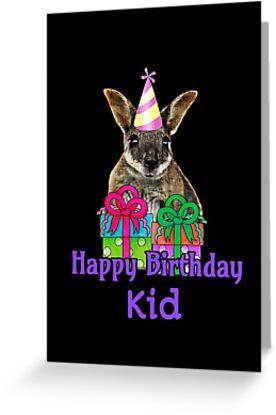 Kids Happy Birthday Wallaby Cute Australian Animal Gift Greeting Card By Catxel Cute Australian Animals Australian Animals Pet Gifts
