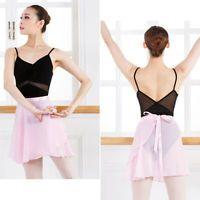 Women Girls Leotards Chiffon Ballet Wrap Skirt Kids Dance over Scarf Adult Tutu