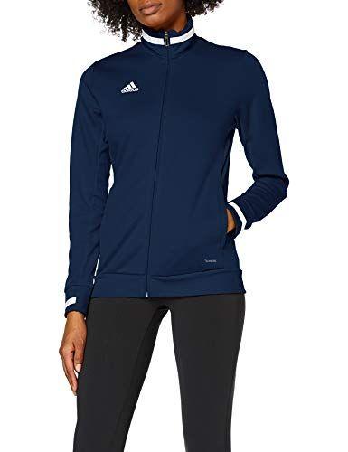 adidas Women's T19 TRK JKT W Jacket Team Navy BlueWhite X